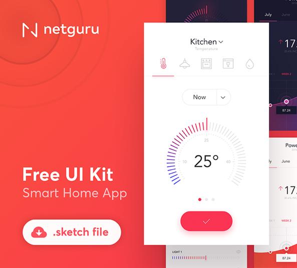 Smart Home App Design Kit For Sketch