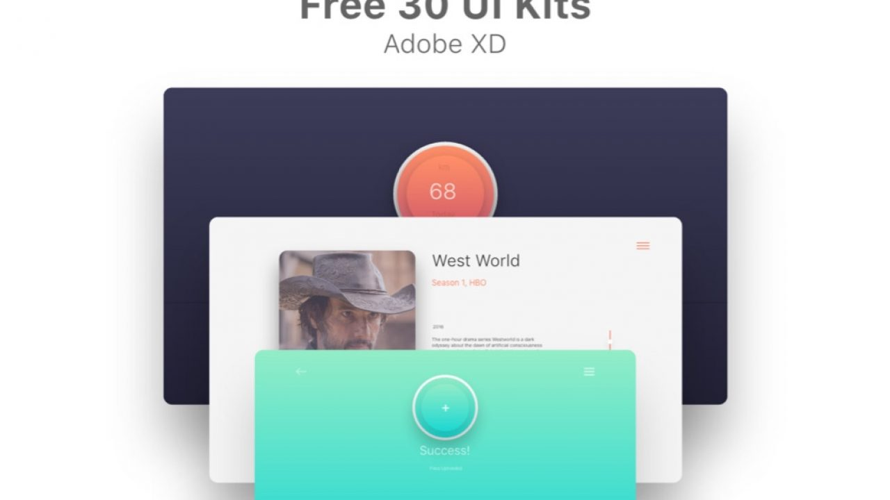 30 Free Minimal UI Kits for Adobe XD - FreebiesUI