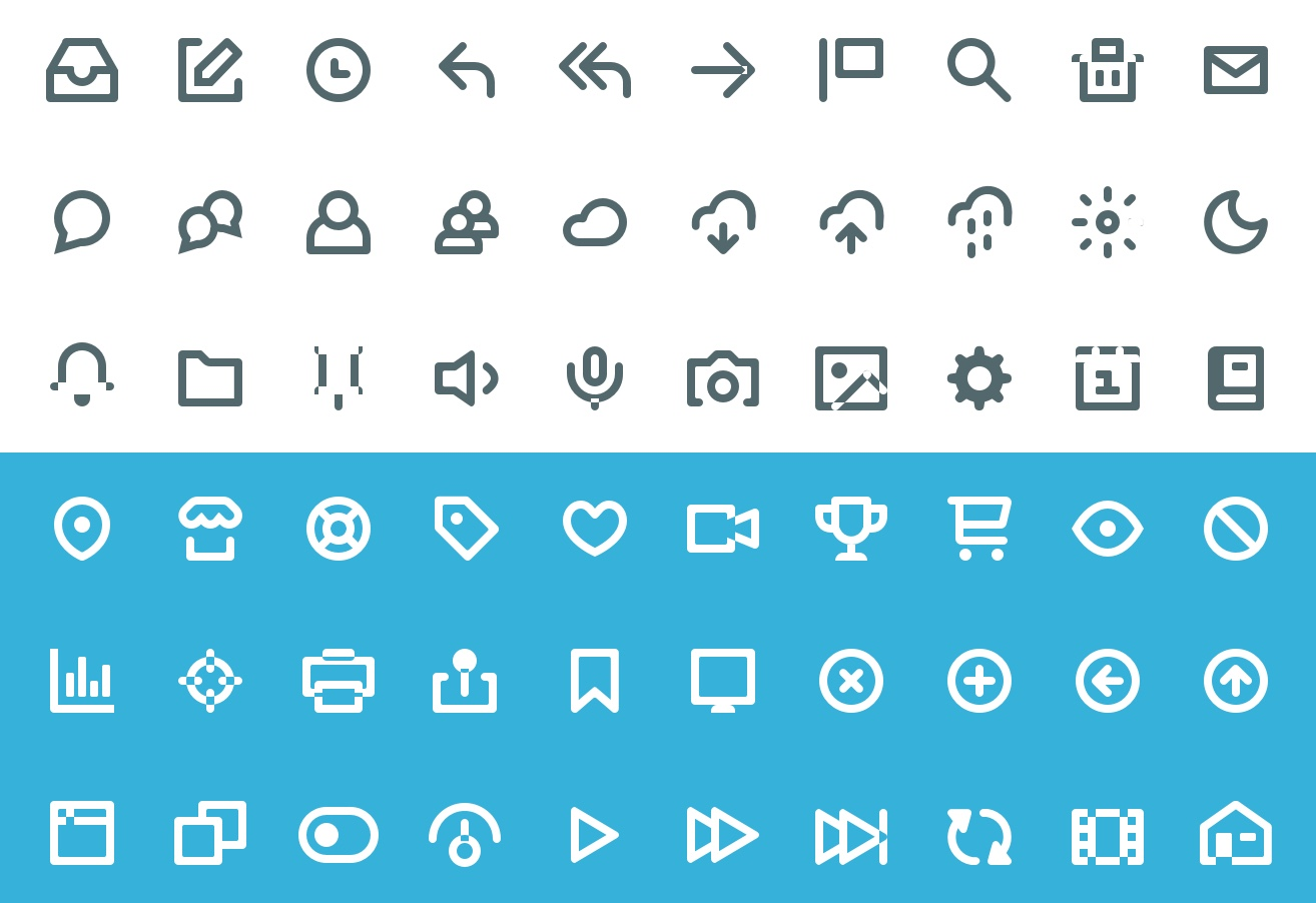 60 Vicon Icon set for mobile and web