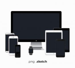 All modern devices vector mockups