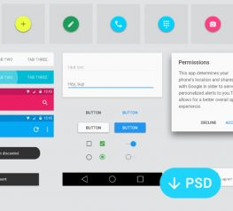 Android Material Design GUI Kit Free