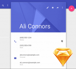 Android material design new for sketch app