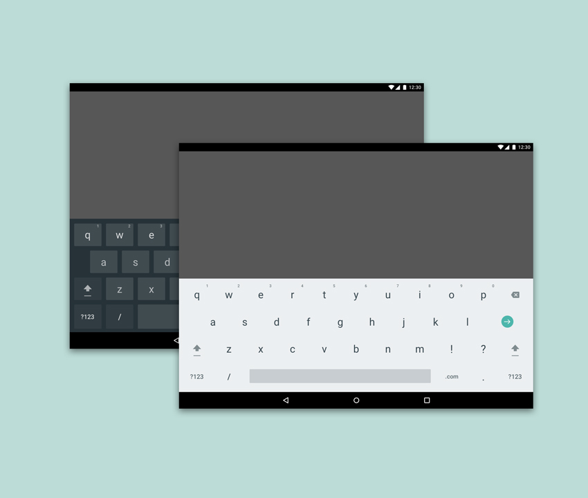 Free Light and Dark Android Keyboard Table Freebie for Sketch