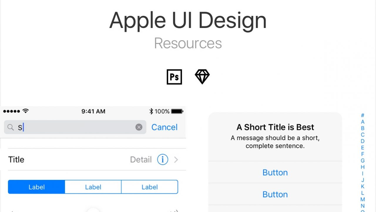 Apple UI Design Resources for PSD and Sketch - FreebiesUI