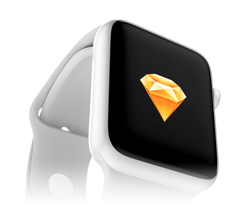 Free Silver Apple Watch Mockup Edition for Sketch