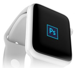Modern Apple Watch Mockup Device for PSD