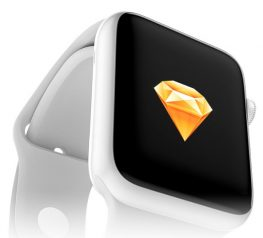 Apple Watch Edition Mockup for Sketch Silver Device