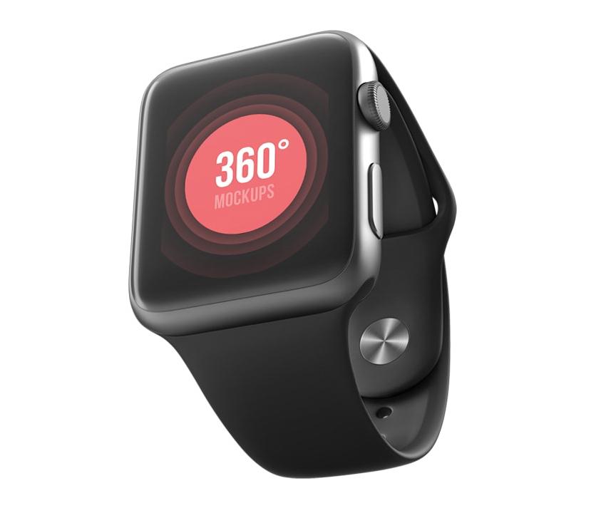 Apple Watch Sport Mockup for PSD