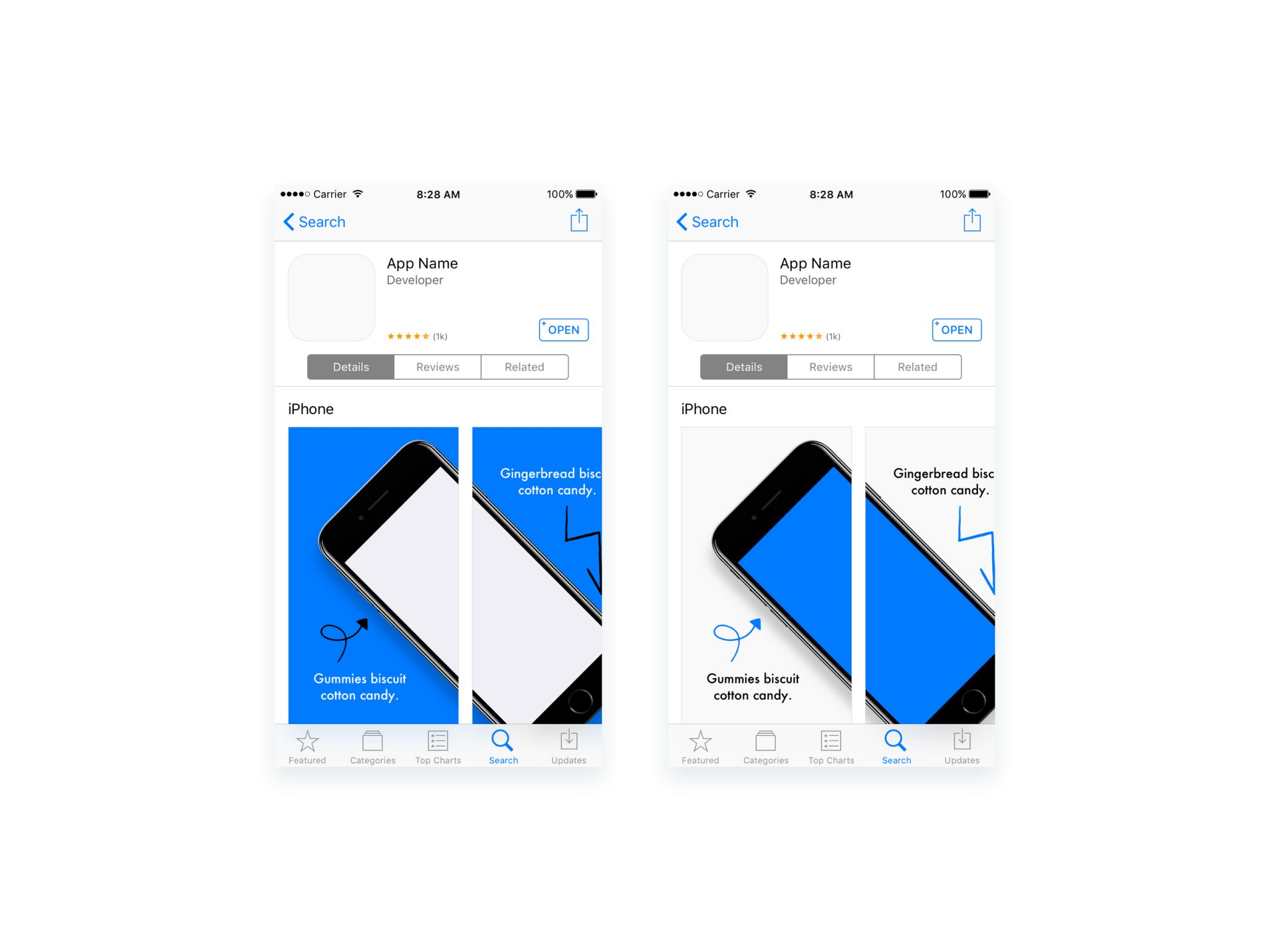 Appstore screenshots iphone preview freebiesui for App store screenshot template