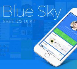 Blue Sky Free iOS App Design Concept