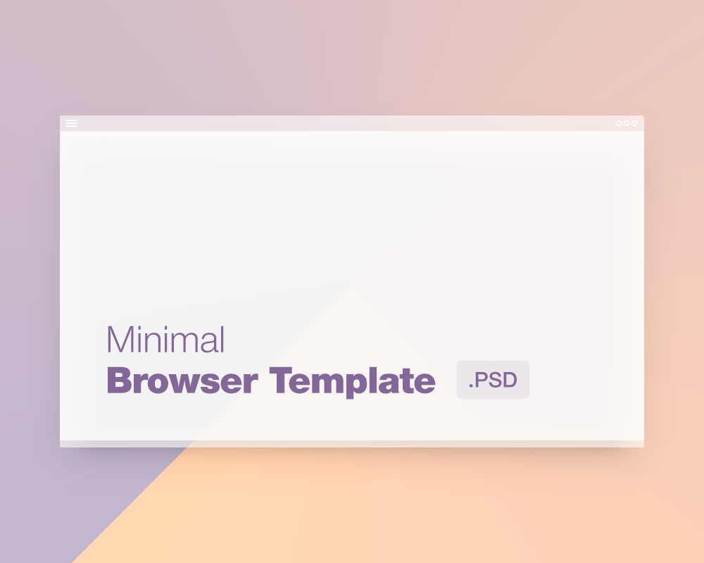 Clean Browser Minimal Template for PSD