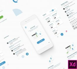 Collaboration App Design UI Kit for Adobe XD