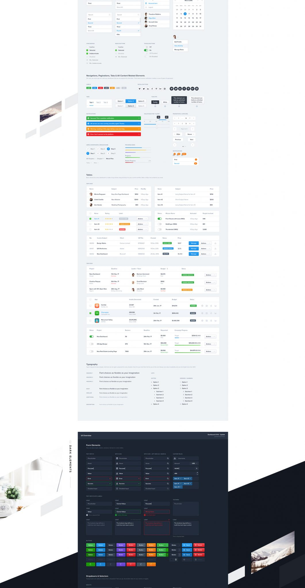 Download for free Dashboard UI Kits for web