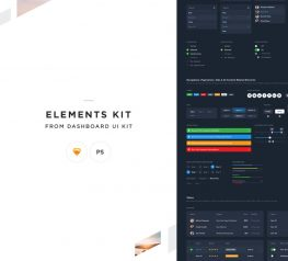 Elements Kit From Dashboard UI Kit for Sketch and Photoshop
