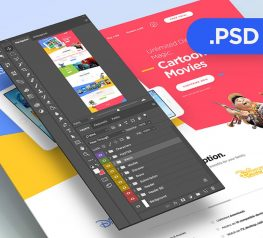 Cartoon Disney PSD Template for Free