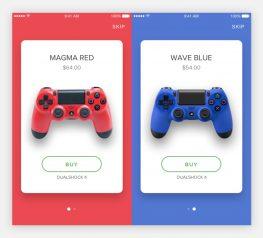 PS4 Dualshock controller UI Kit Principle and Sketch