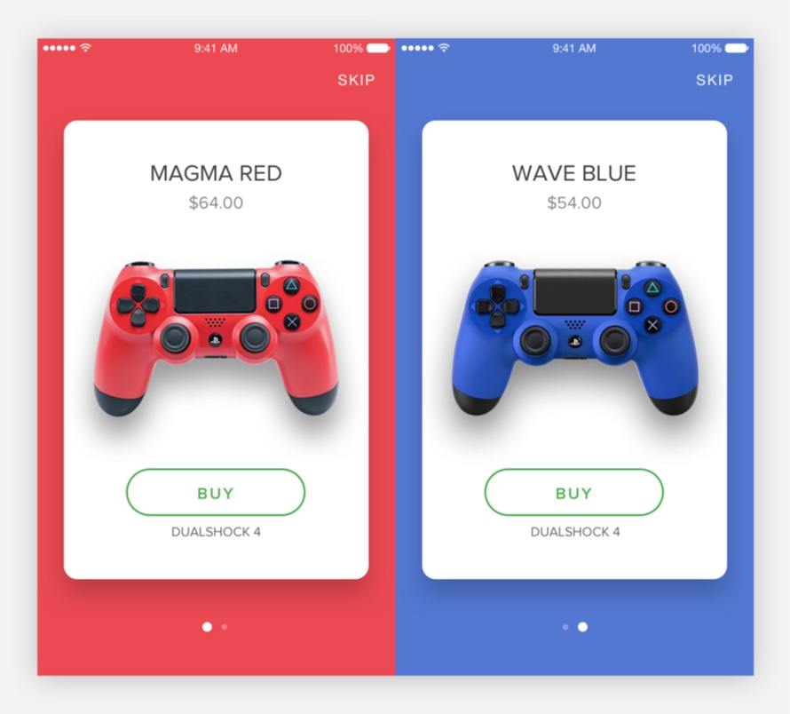 Dualshock 4 UI Kit for Sketch and Principle - FreebiesUI