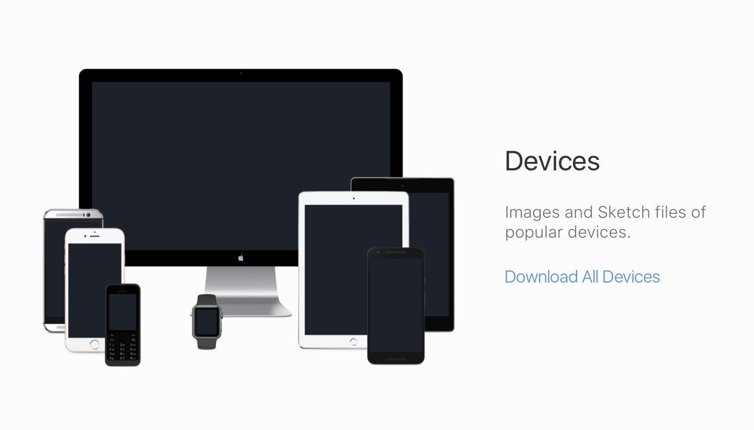Devices Mockup for Png and Sketch files for All modern devices from FB