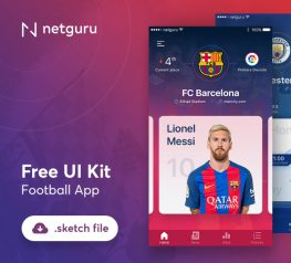 Football App UI kit for Free