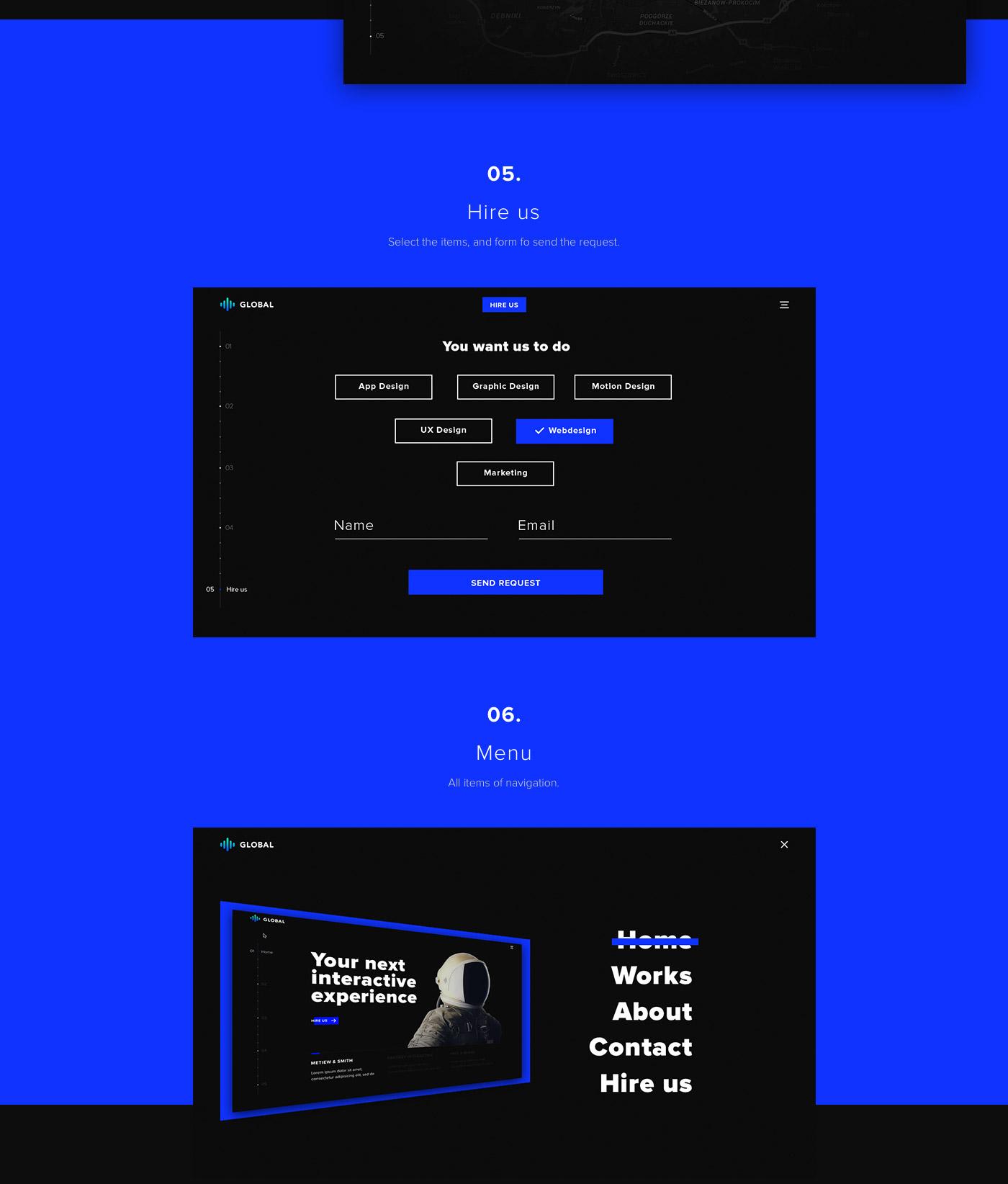 Portfolio free PSD template - Global Web template