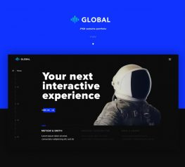 Global - Free PSD Template for Photoshop