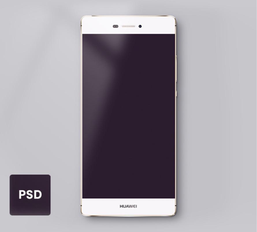 Huawei P8 Lite Mockup for Photoshop - FreebiesUI