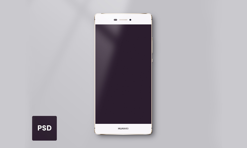 Huawei P8 Lite Mockup Template for PSD