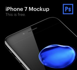 Free Black Iphone 7 Mockup Right Perspective freebie
