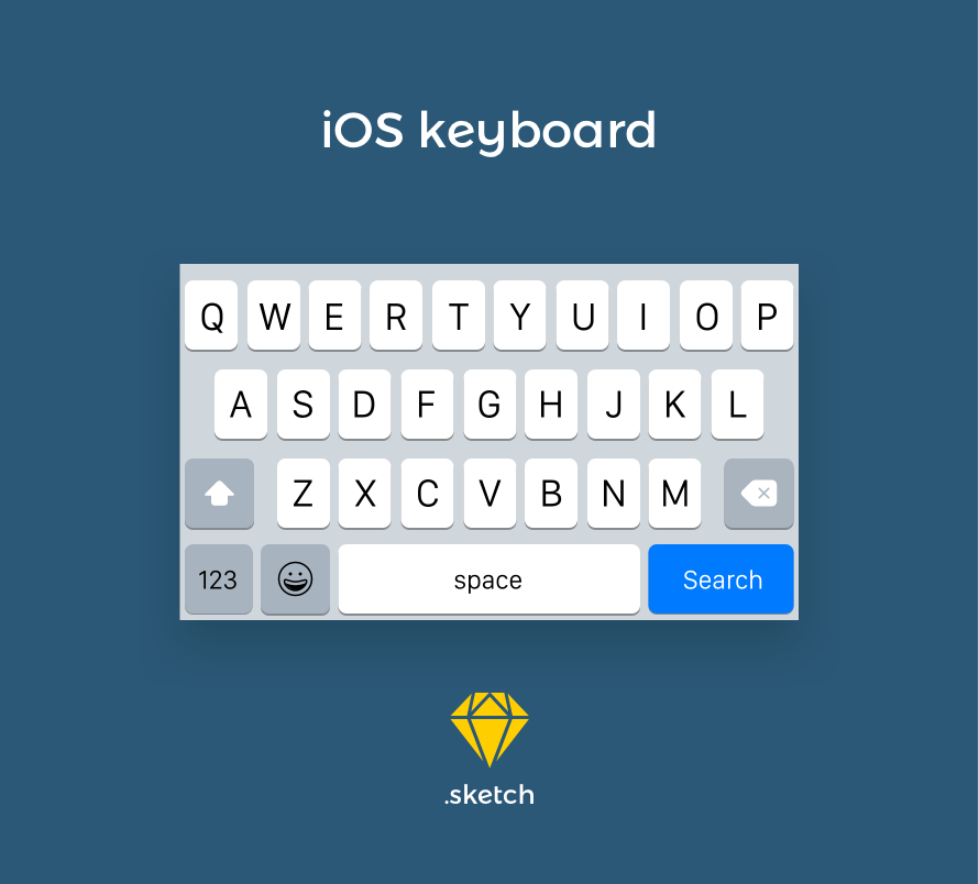 iOS Keyboard UI Kit Vector for Sketch - FreebiesUI