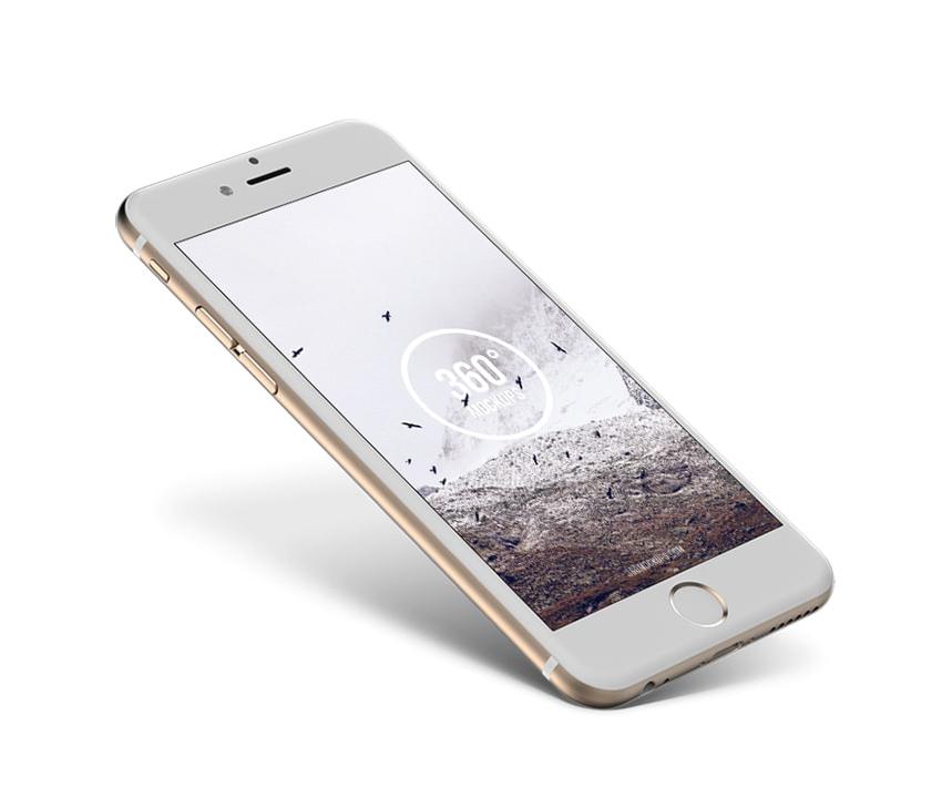 iPhone 6 Gold Mockup Freebie