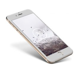 iPhone 6 Gold Mockup angle