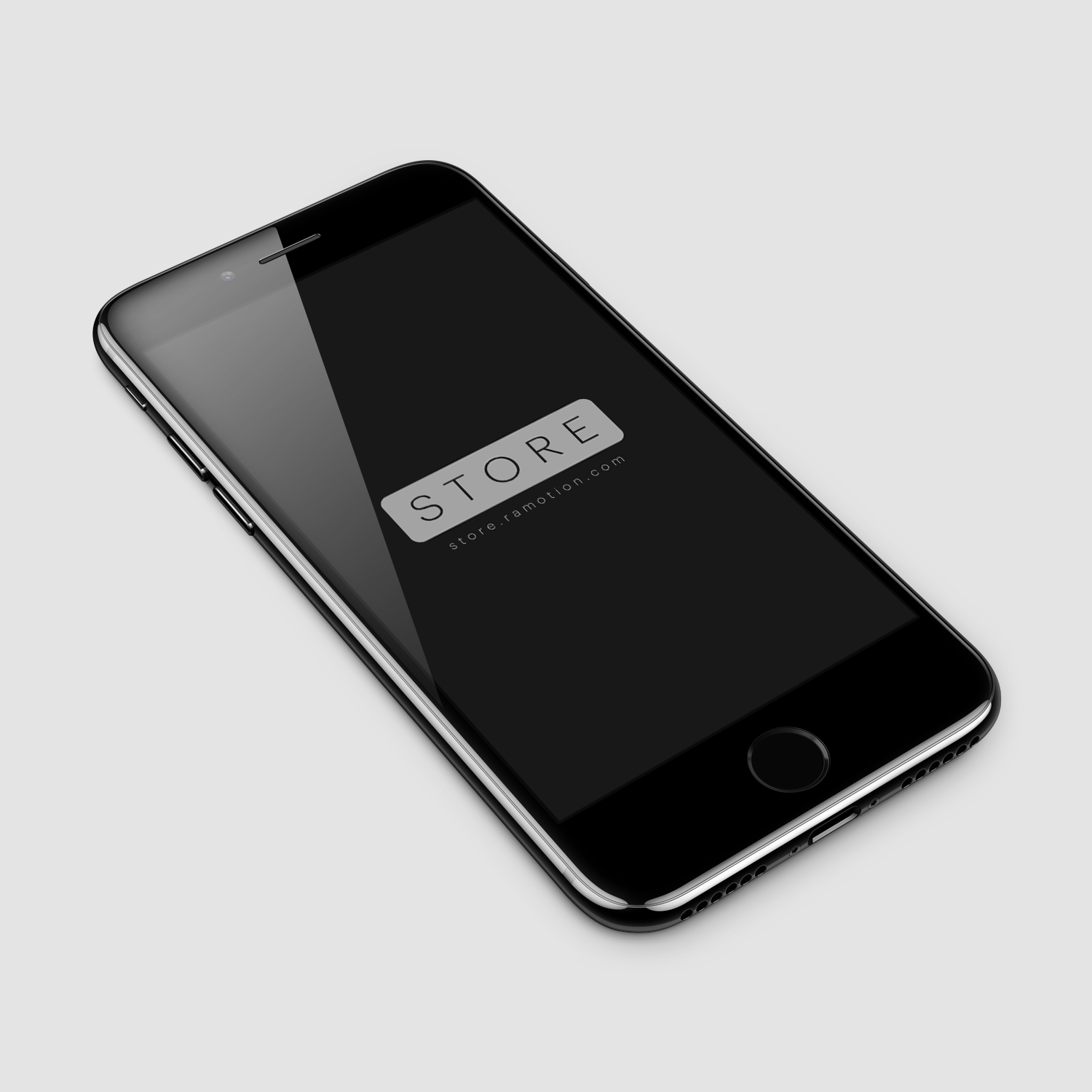 iPhone 7 Jet Black Mockup Free psd - black freebie