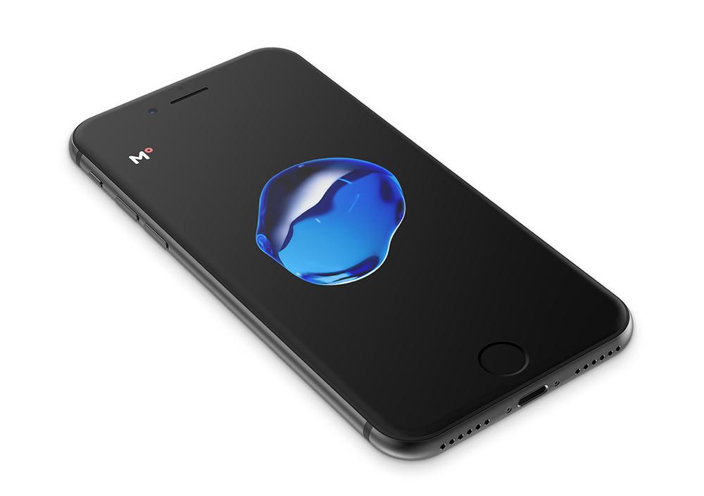 iPhone 7 Black Device Mockup Pespective