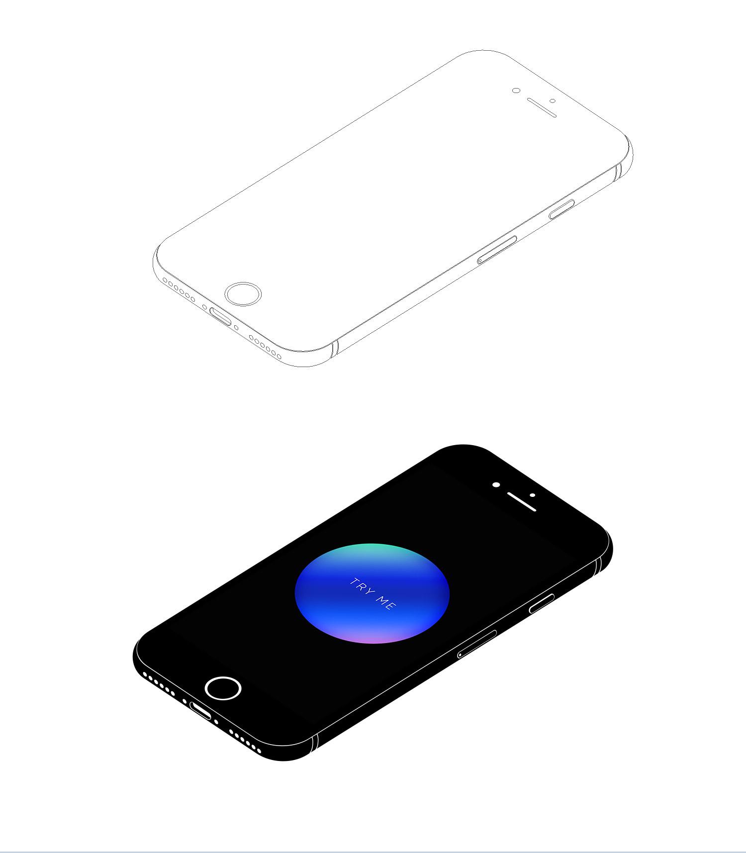 iPhone 7 Isometric Mockup Presentation - 3