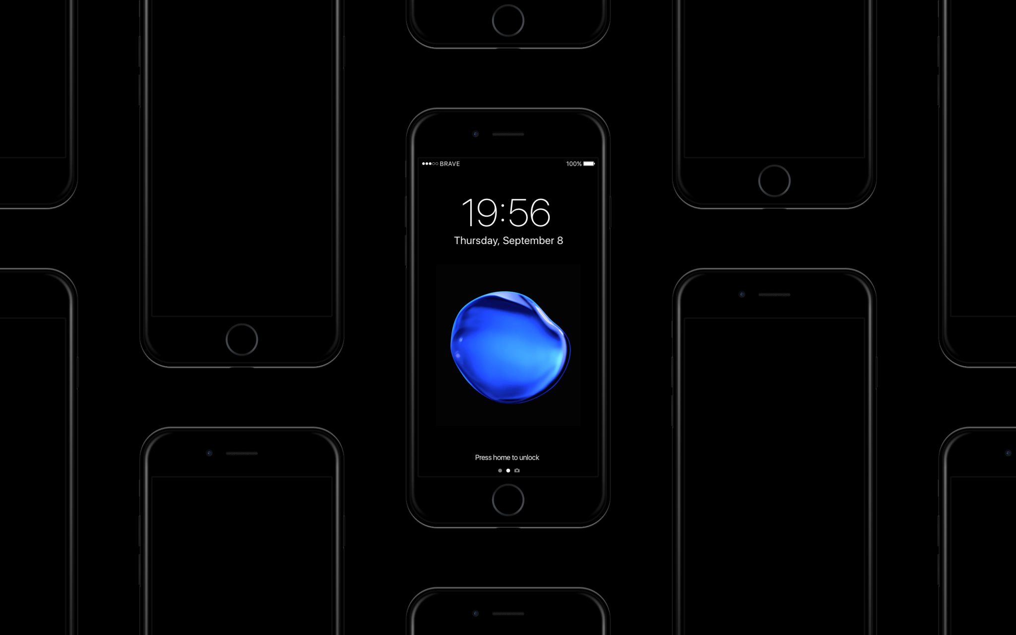 iPhone 7 Mockup Jet Black - Apple Freebie