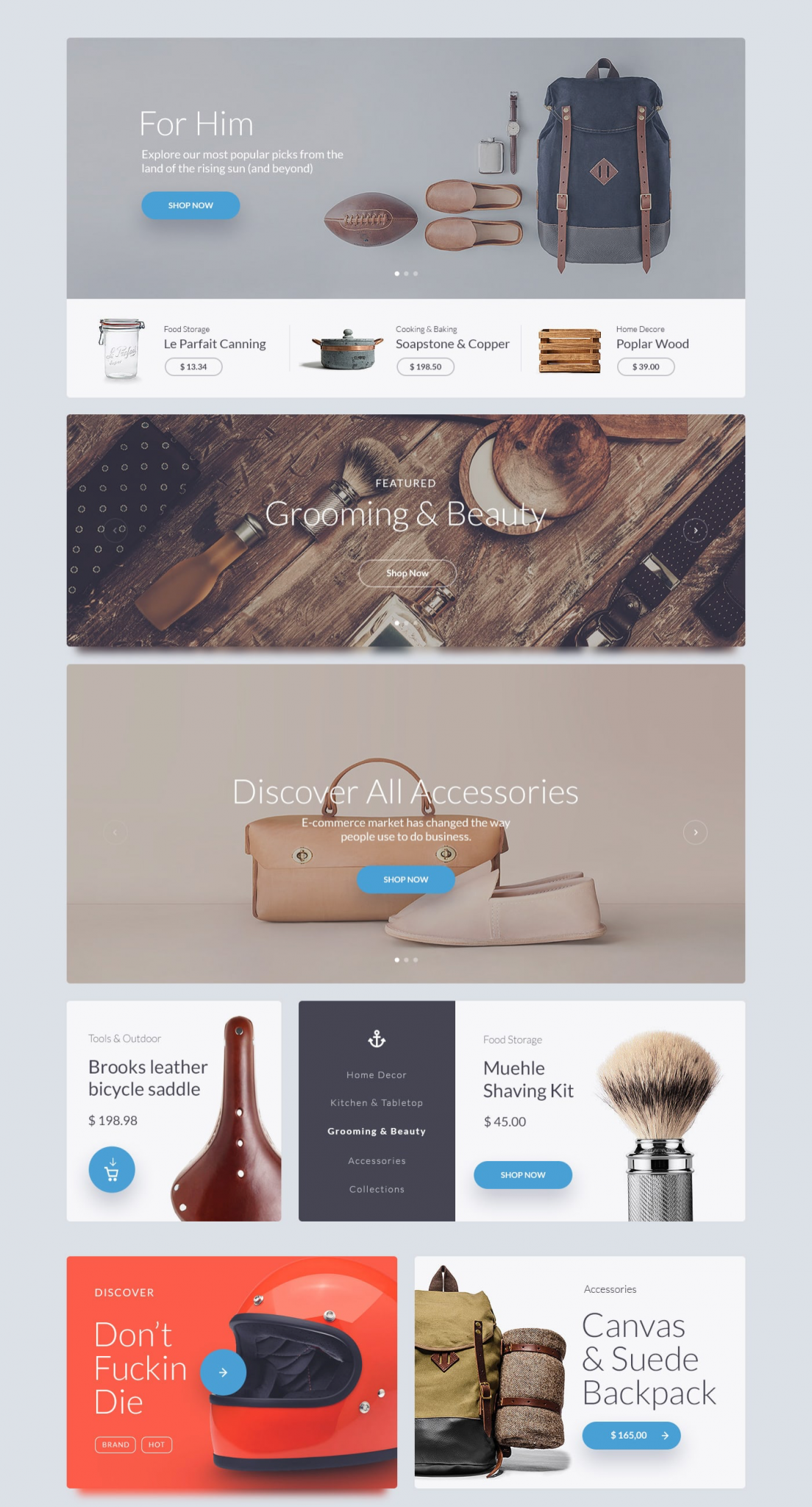 Kauf UI Web Kit Website template - UI Kit freebie - Web Template