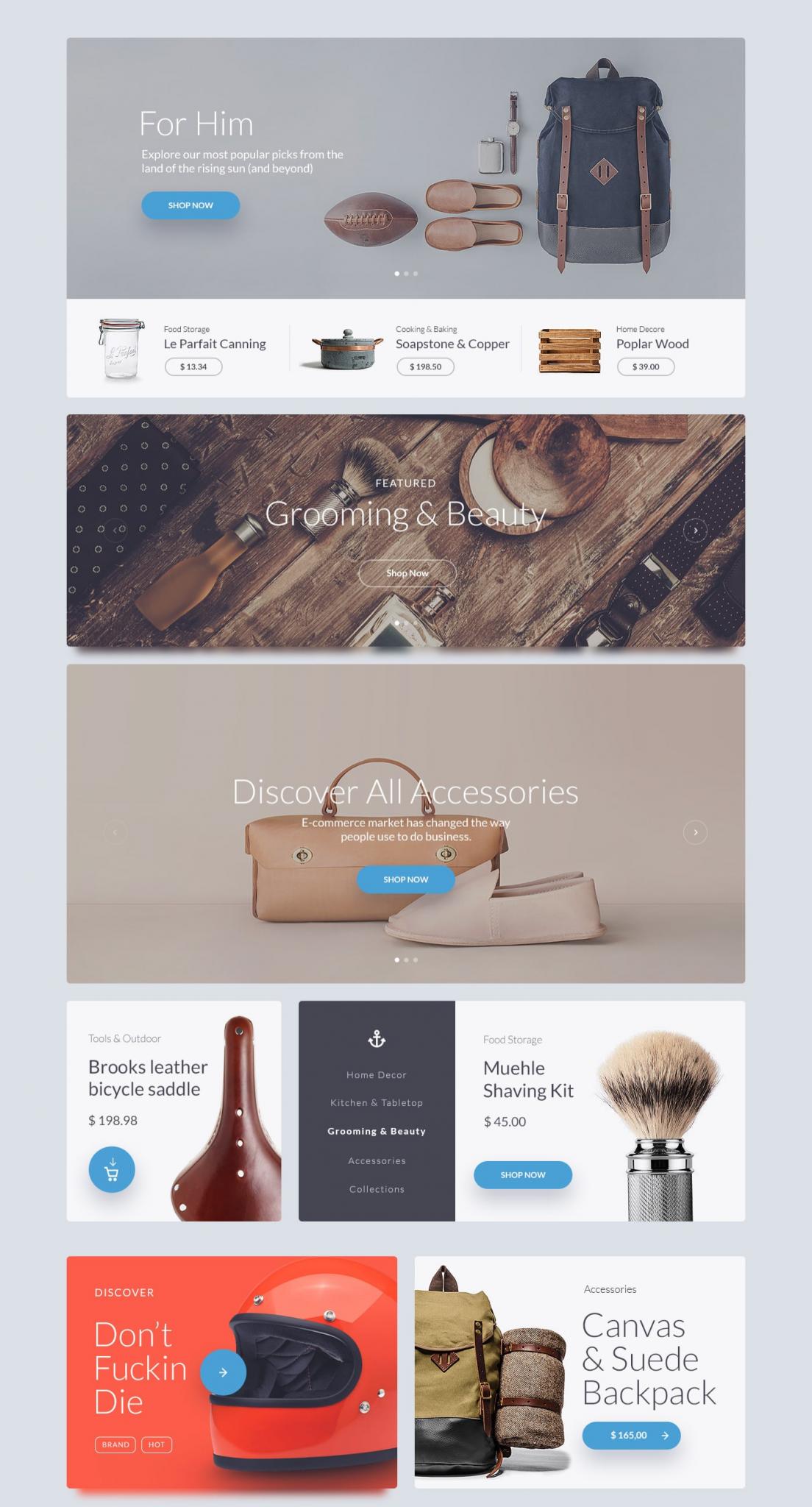 Kauf UI Web Kit Website template - UI Kit freebie - Web Template