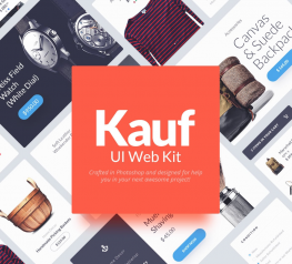 Free Website UI kit - Kauf