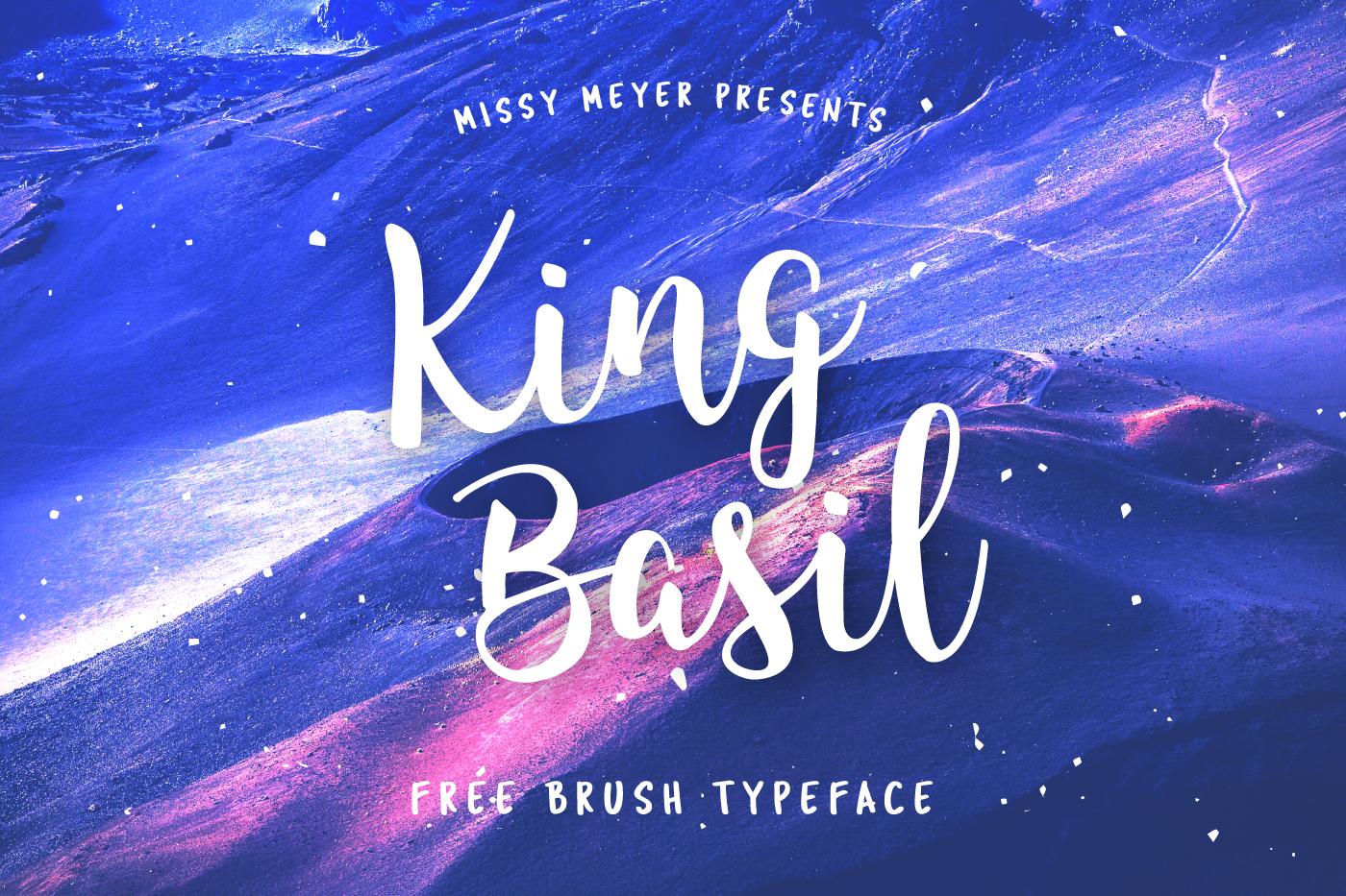 Free brush font - King Basil frebie