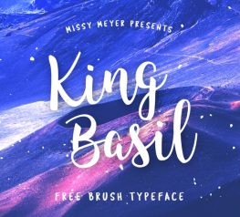 Free font freebie - King Basil