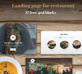 37 free psd ui kits for restaurant website