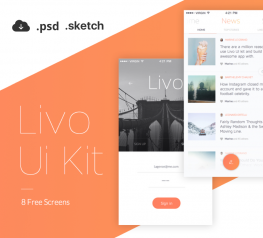 Free mobile app ui kit - Livo