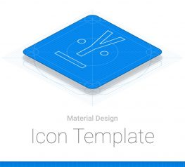 Material Design Icon template PSD