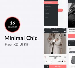 E-commerce ios kit app for adobe xd free