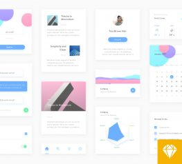 Free Clean and Minimal UI Kit for Web