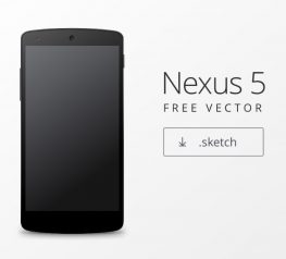 Android Nexus 5 Free Sketch Mockup - Vector