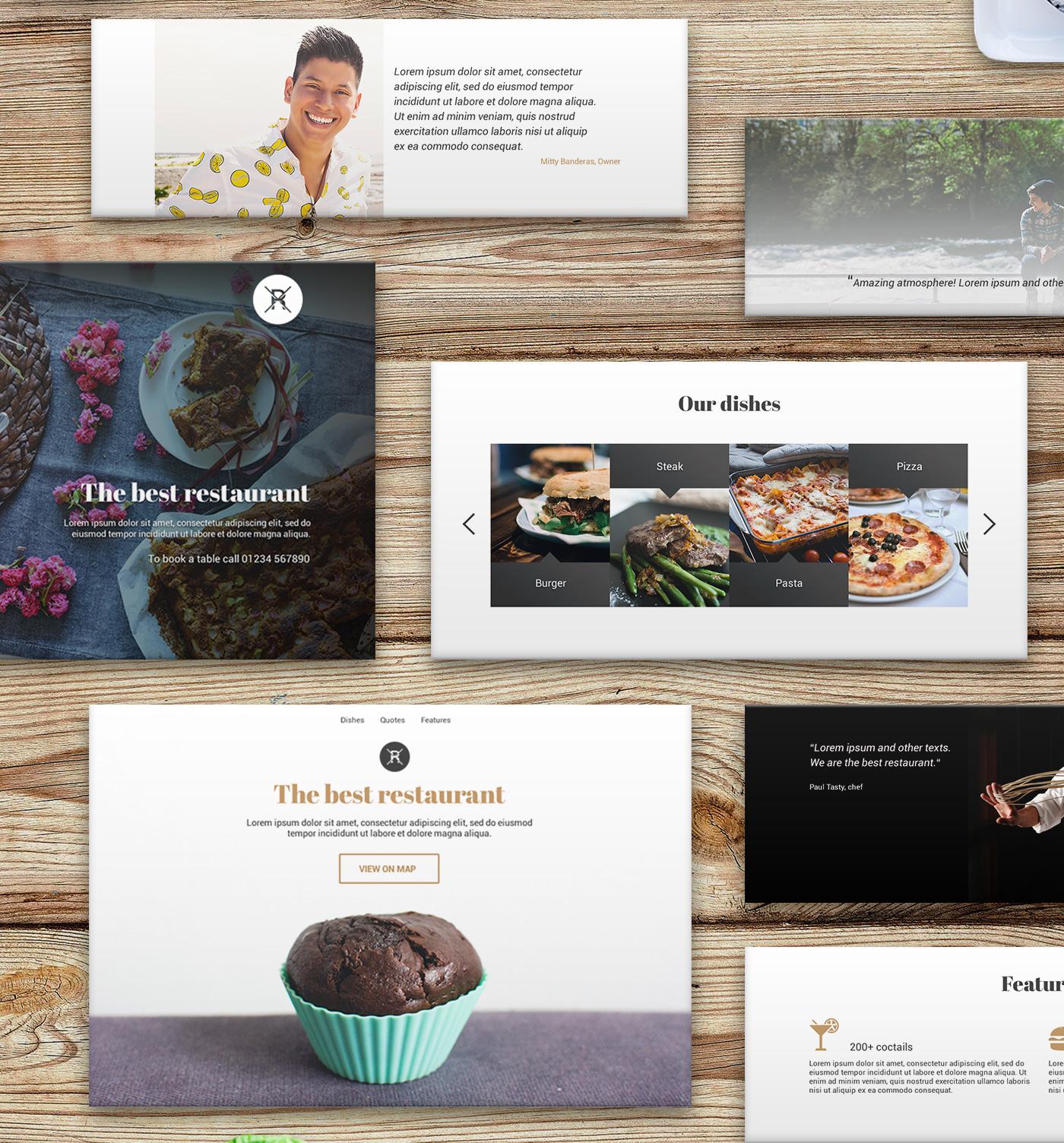 Restaurant UI Kit for Web