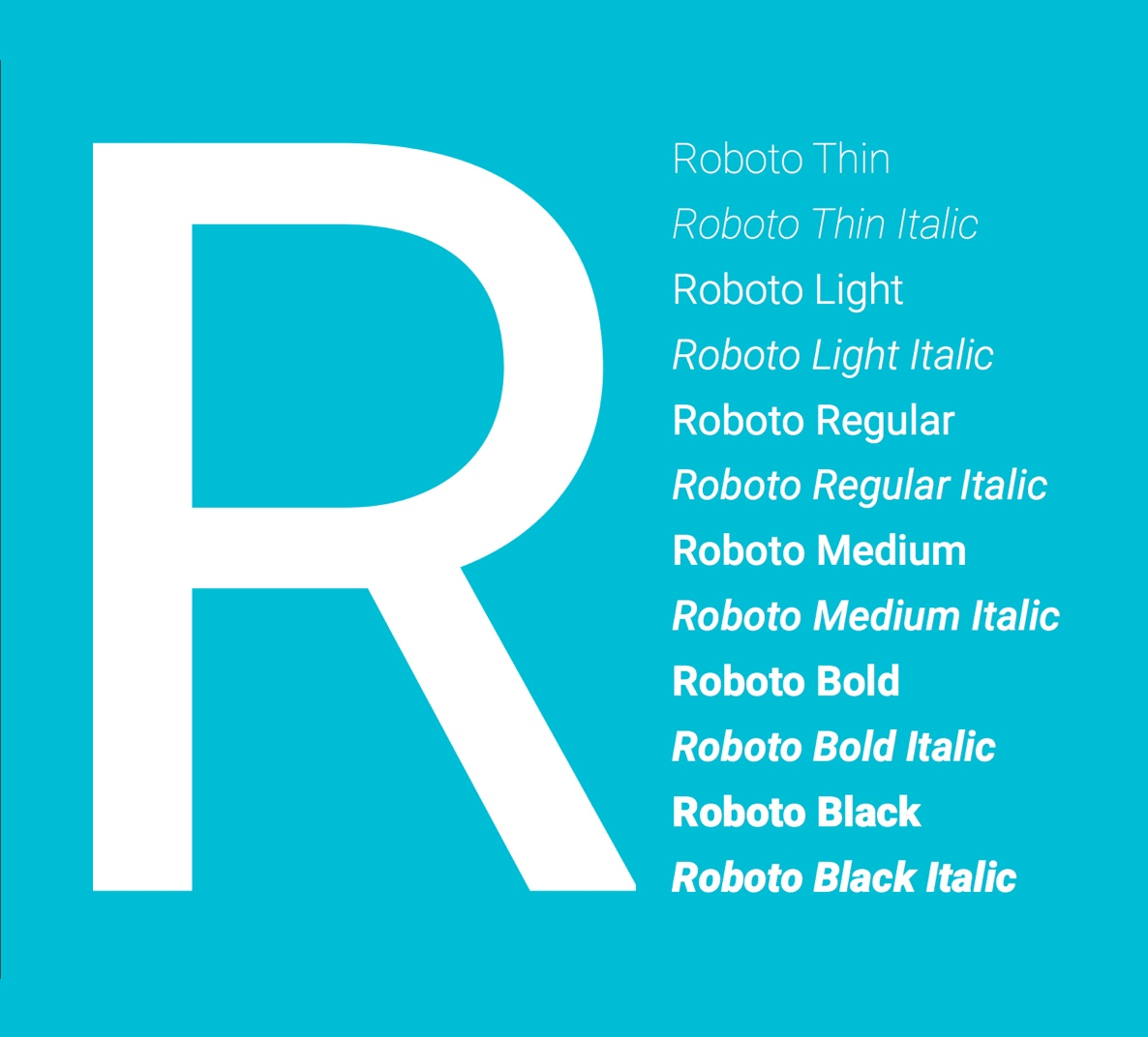 Download for free Roboto all family