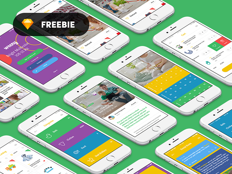 Weeny iOS App designs for iphone