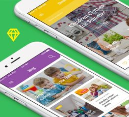 Weeny - UI Kit contain popular categories which will create multicolor apps and the mobile sites